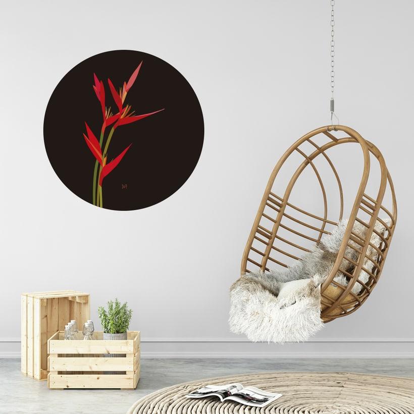 Ilustración 'Heliconias' -1