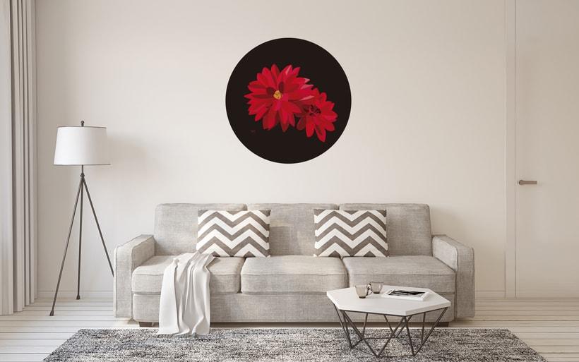 Ilustración 'Red Dhalias' -1