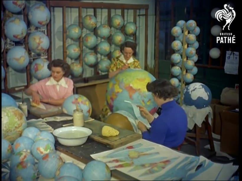 ¿Cómo se hacían los globos terráqueos? 3