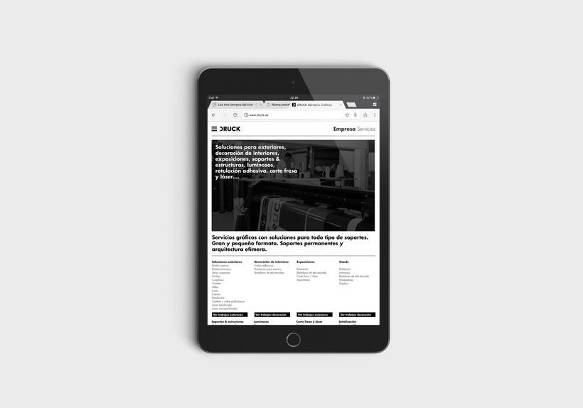 Druck, sitio web 3