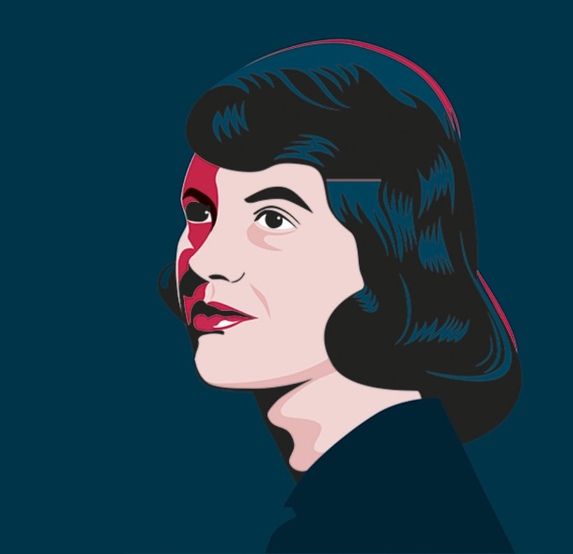 portrait of sylvia plath retrato de sylvia plath domestika