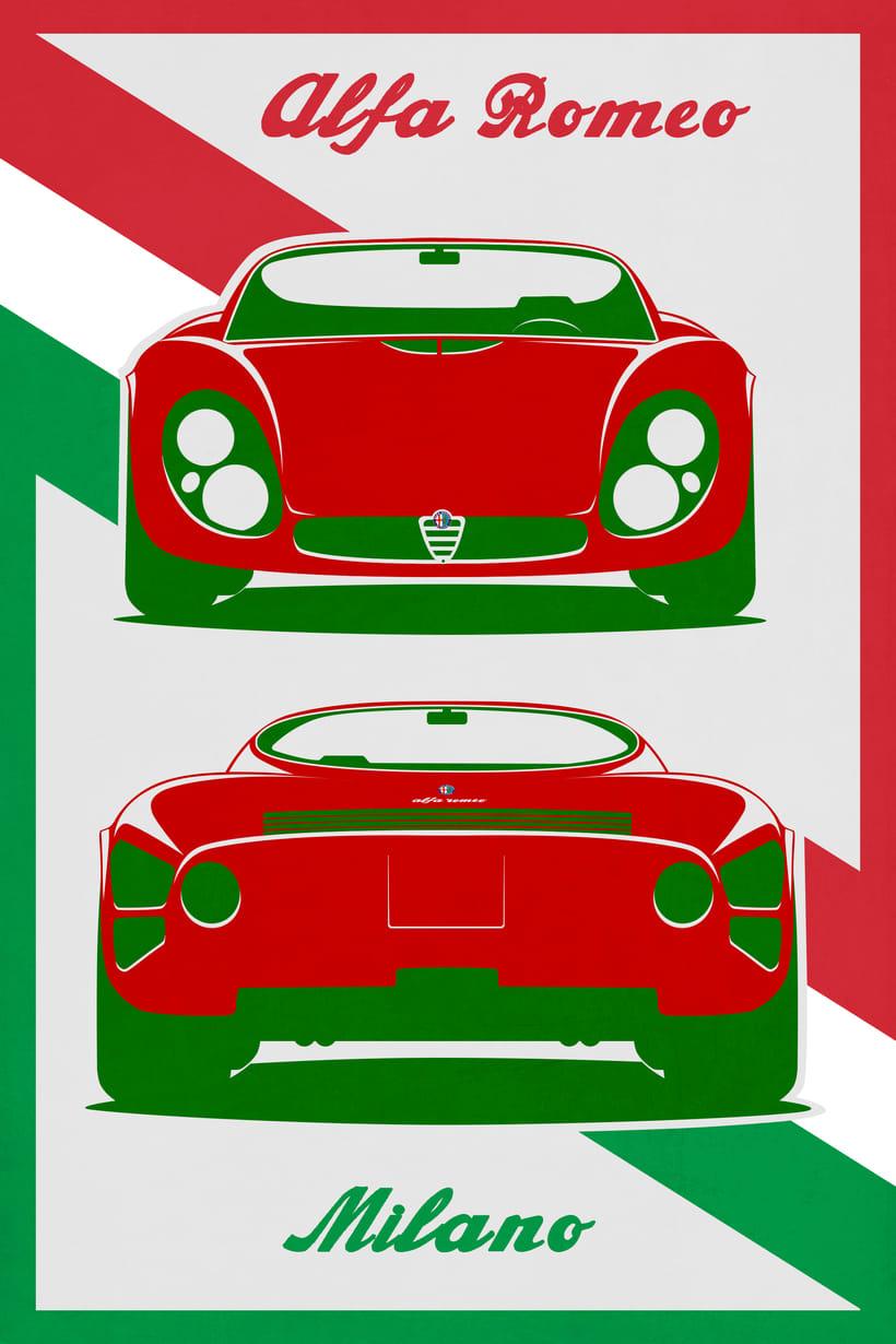 Poster Alfa Romeo Domestika - Alfa romeo poster