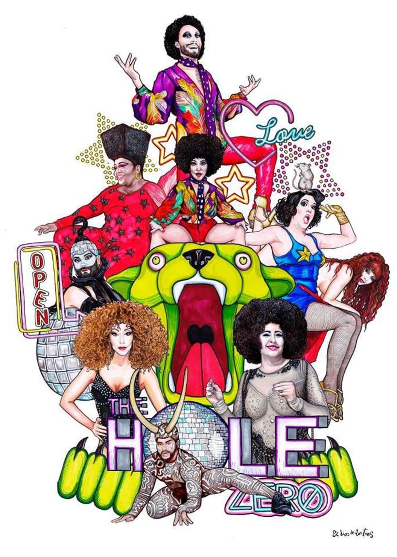 Ilustraciones para el espectáculo The Hole Zero  -1