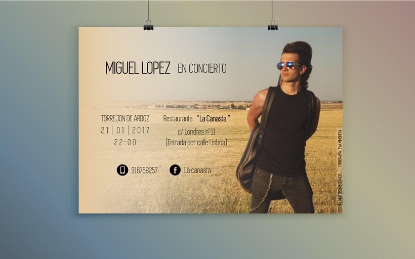 Cartel para concierto  0