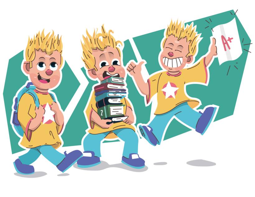 Alcanzando Una Estrella | Ilustración Infantil 2