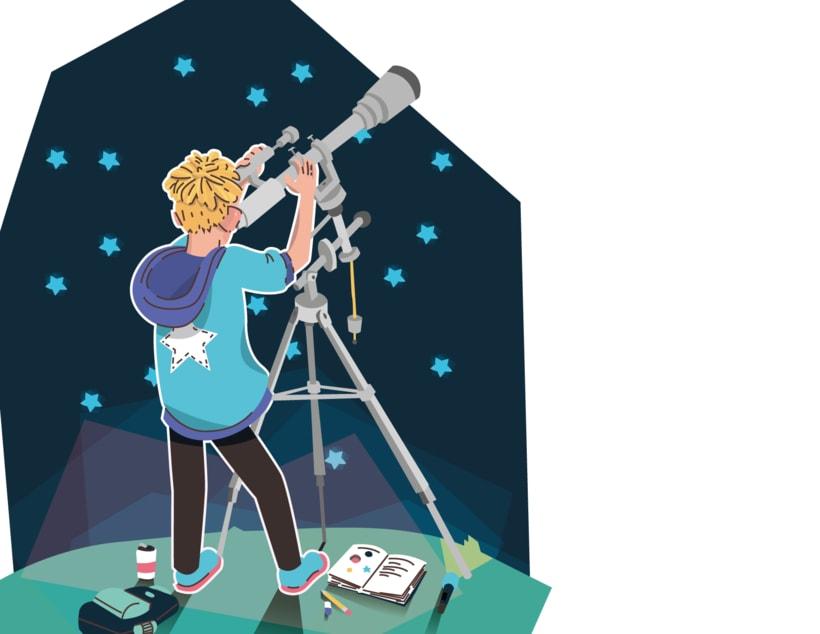 Alcanzando Una Estrella | Ilustración Infantil 6