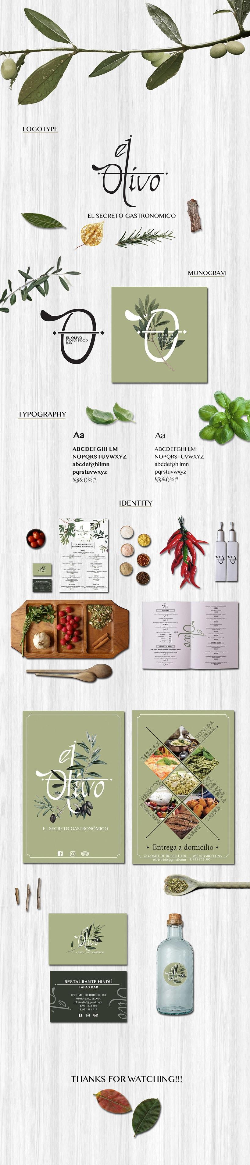 El Olivo Restaurant   brand identity -1