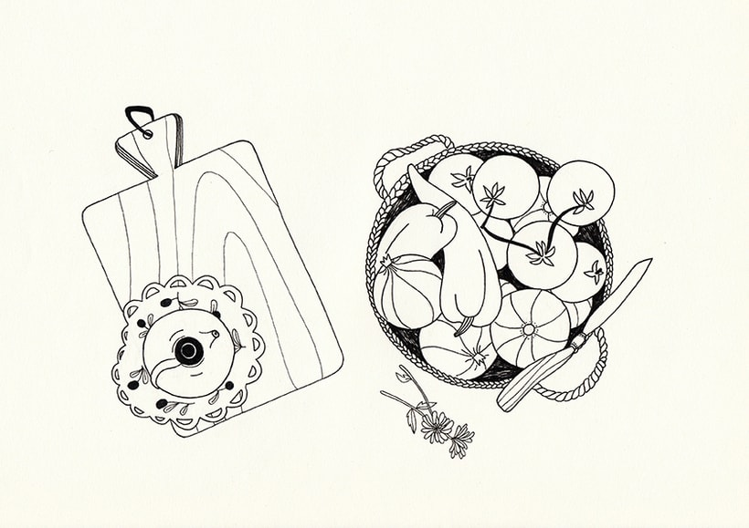 Slow food - ilustraciones 1