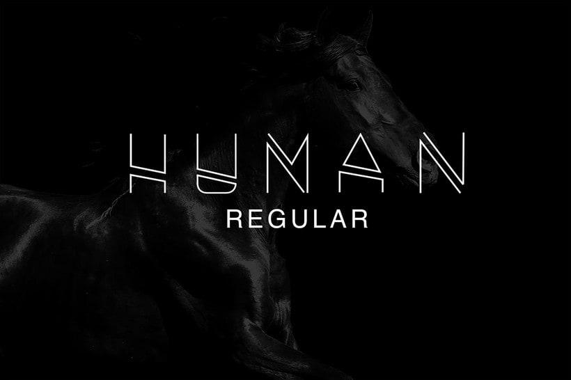 HUMAN FONT TYPEFACE 0