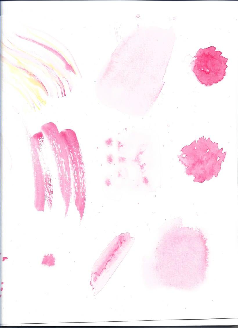 Punto magenta: Retrato ilustrado en acuarela 11