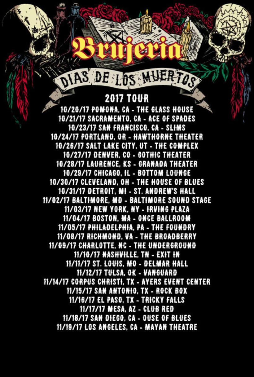 Brujería - Dias de los Muertos 2017 Tour Merch 5