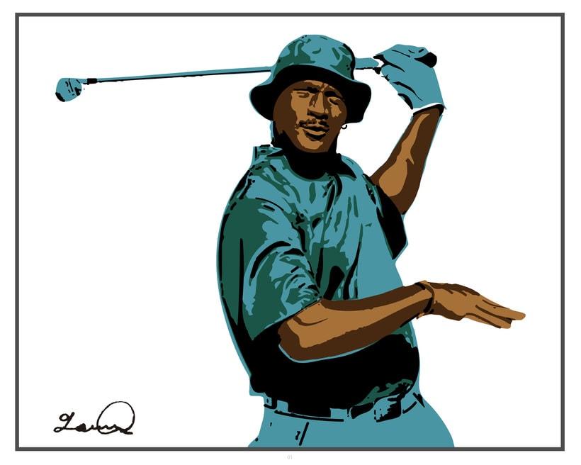 Imprimibles - Cuadros de Michael Jordan jugando al Golf -1