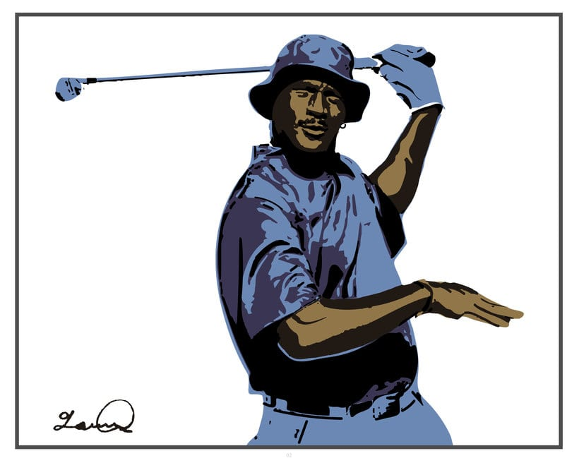 Imprimibles - Cuadros de Michael Jordan jugando al Golf 0