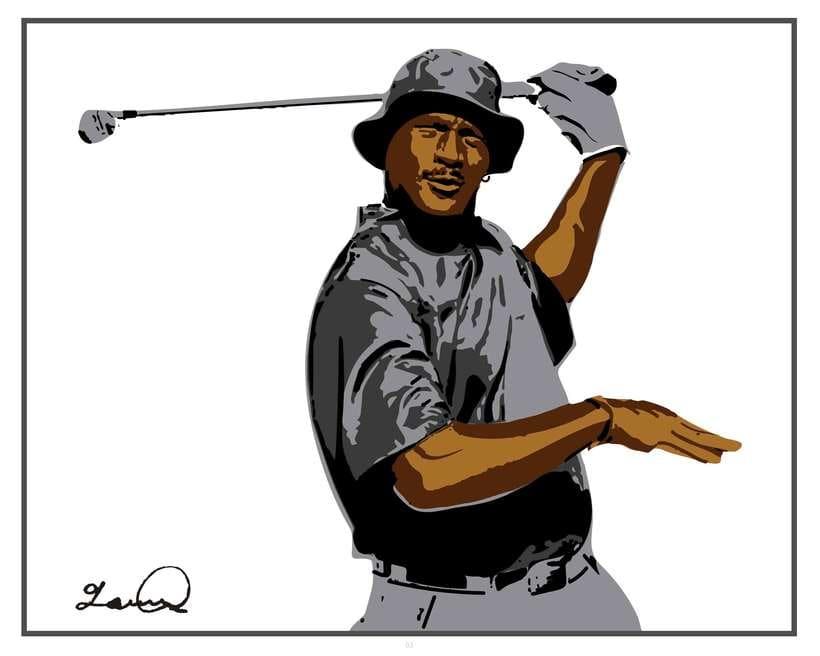 Imprimibles - Cuadros de Michael Jordan jugando al Golf 1