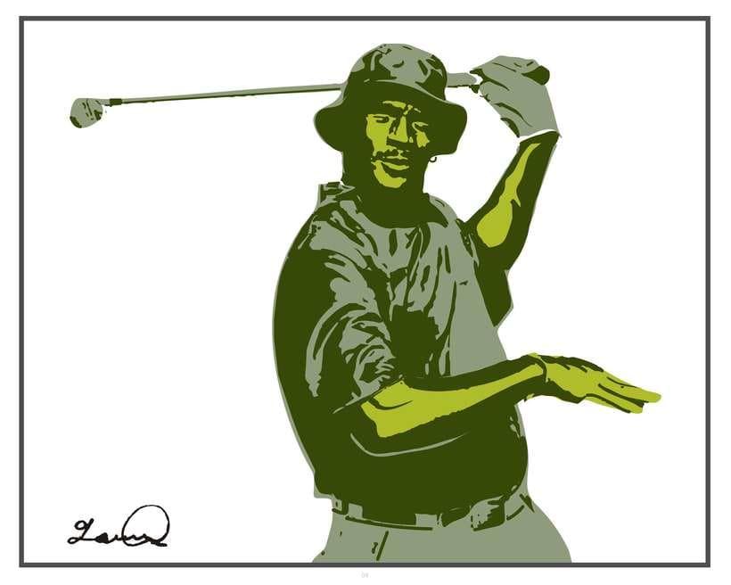 Imprimibles - Cuadros de Michael Jordan jugando al Golf 2