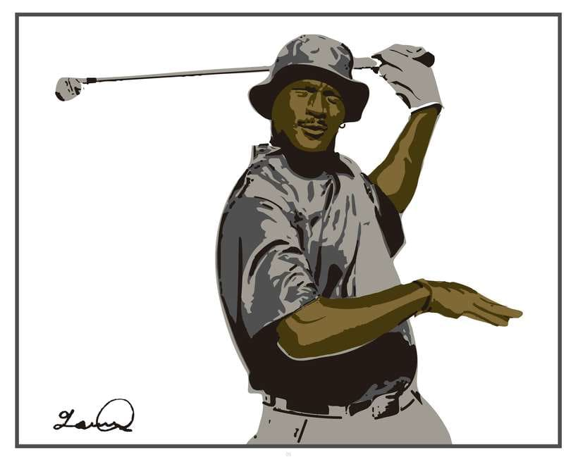 Imprimibles - Cuadros de Michael Jordan jugando al Golf 3