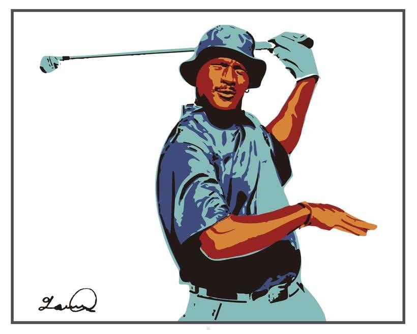 Imprimibles - Cuadros de Michael Jordan jugando al Golf 4