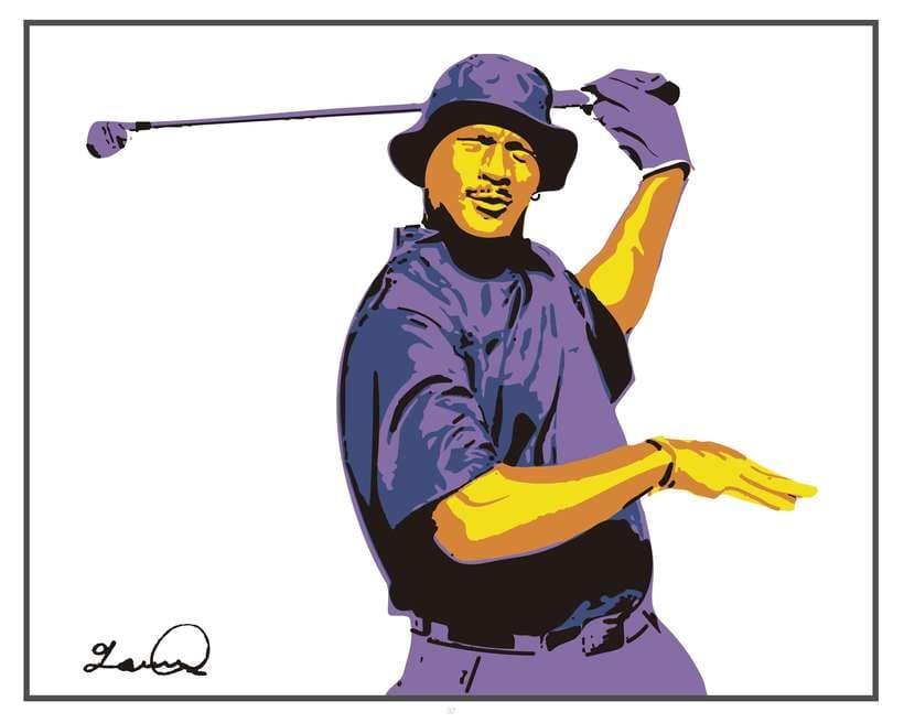 Imprimibles - Cuadros de Michael Jordan jugando al Golf 5
