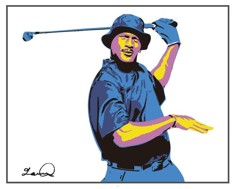 Imprimibles - Cuadros de Michael Jordan jugando al Golf 6