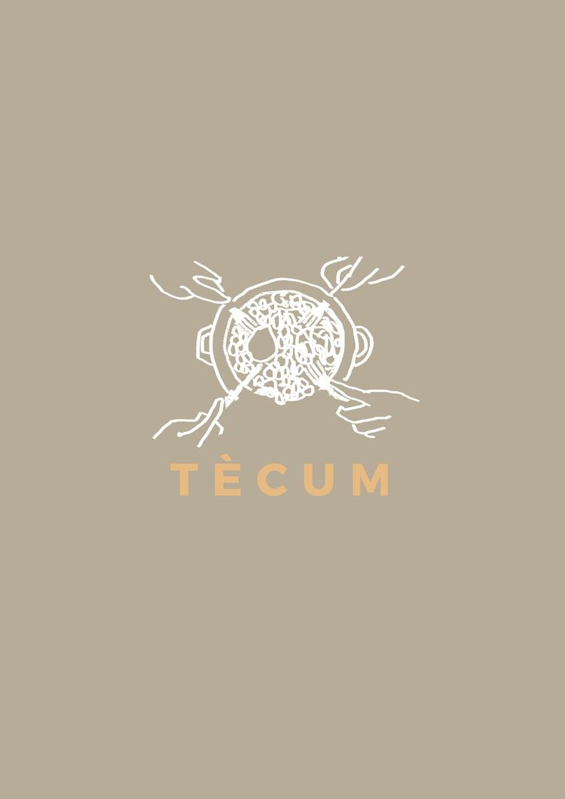 Diseño de cartas del restaurante TÈCUM 2