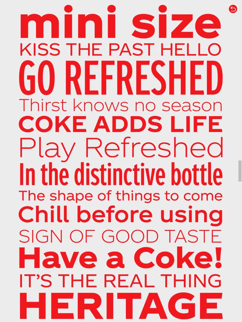 Coca-Cola ya tiene su propia tipografía 5