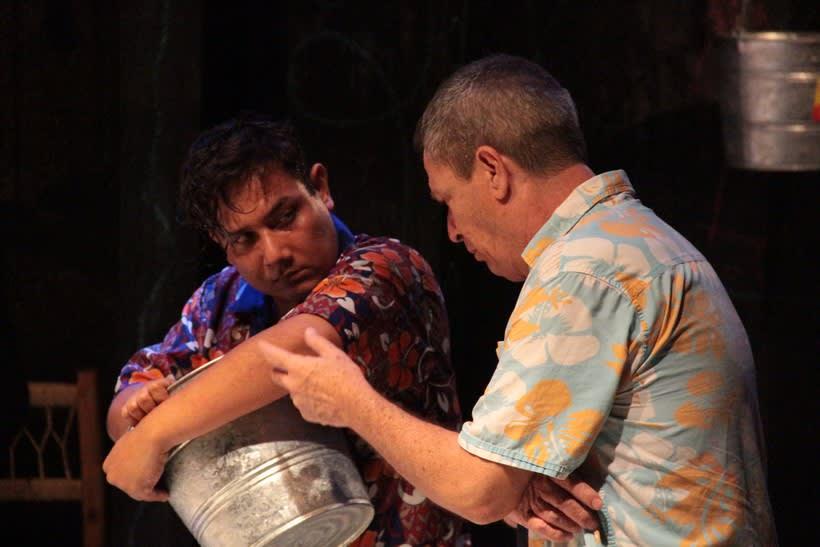 Registro fotográfico de la obra de teatro Culebra de agua / Enrique Caballero Vela / Actor de teatro mexicano 1