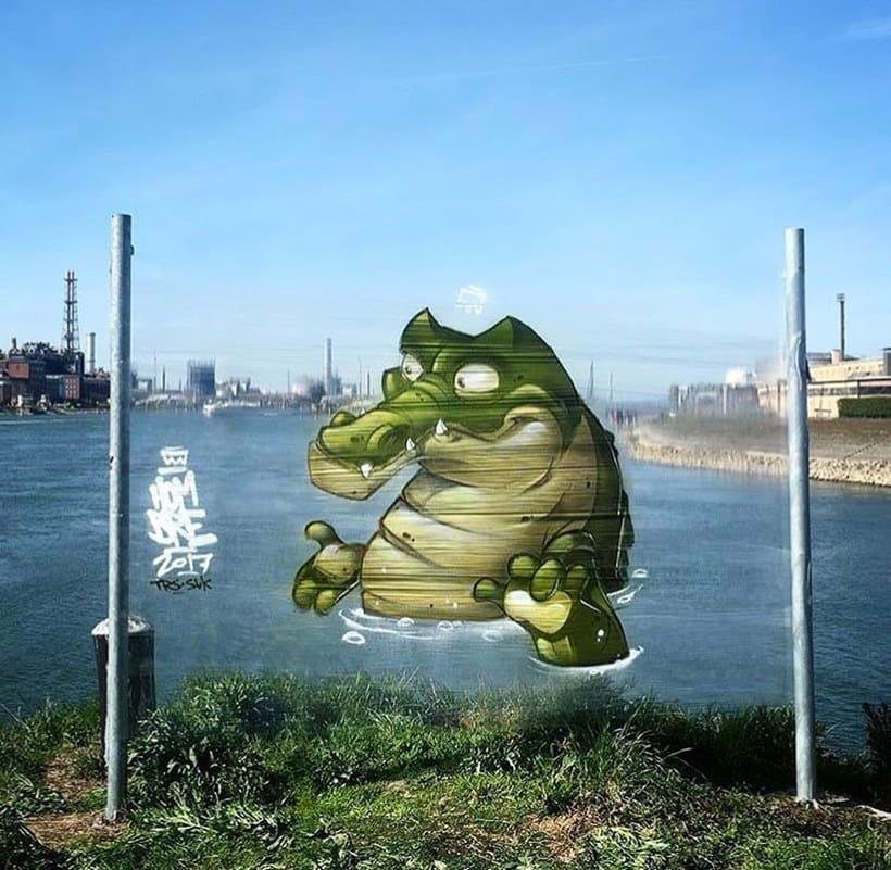 Cellograff o cómo llevar el arte urbano al campo 6