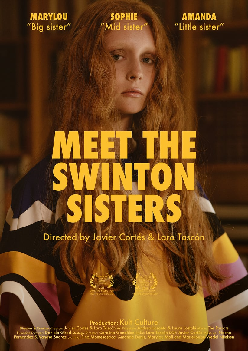 "Fashion film ""Meet the Swinton Sisters"" - VOGUE 1"