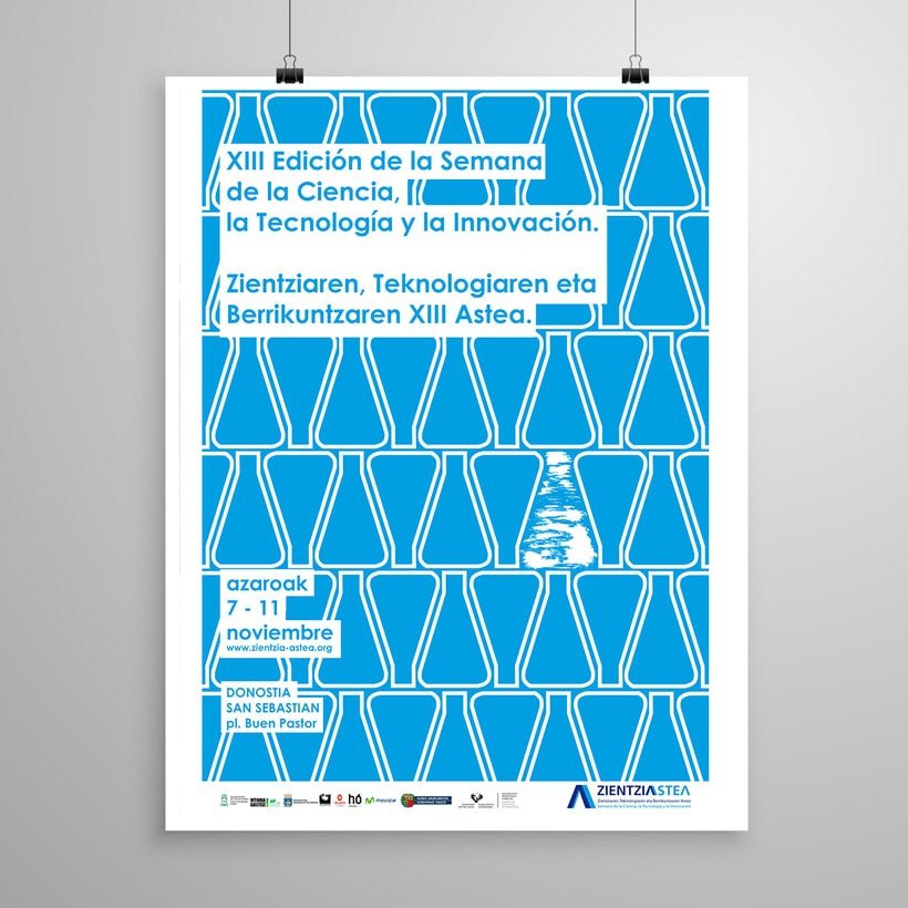Propuesta Diseño cartel para la XIII Edición Semana De La Ciencia, La Tecnología Y La Innovación 0
