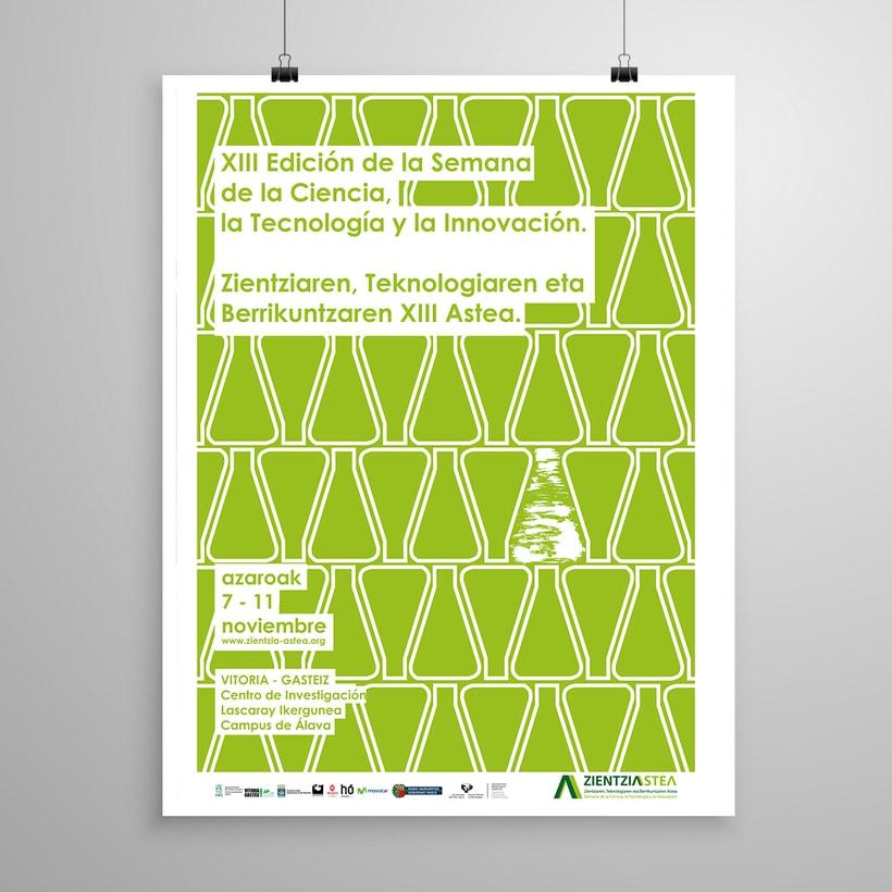 Propuesta Diseño cartel para la XIII Edición Semana De La Ciencia, La Tecnología Y La Innovación 1