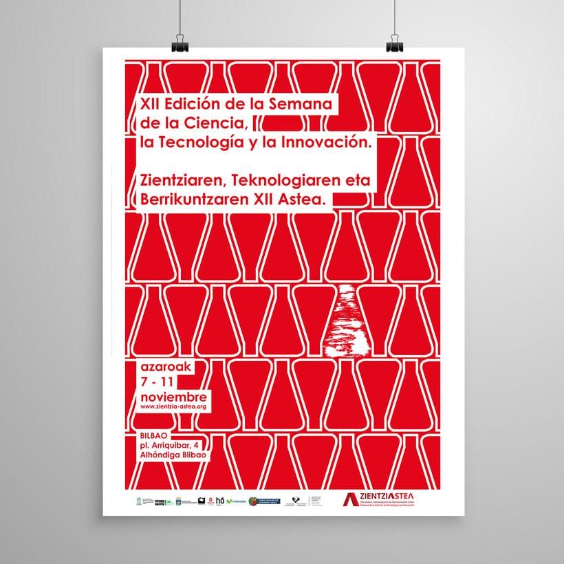 Propuesta Diseño cartel para la XIII Edición Semana De La Ciencia, La Tecnología Y La Innovación 2
