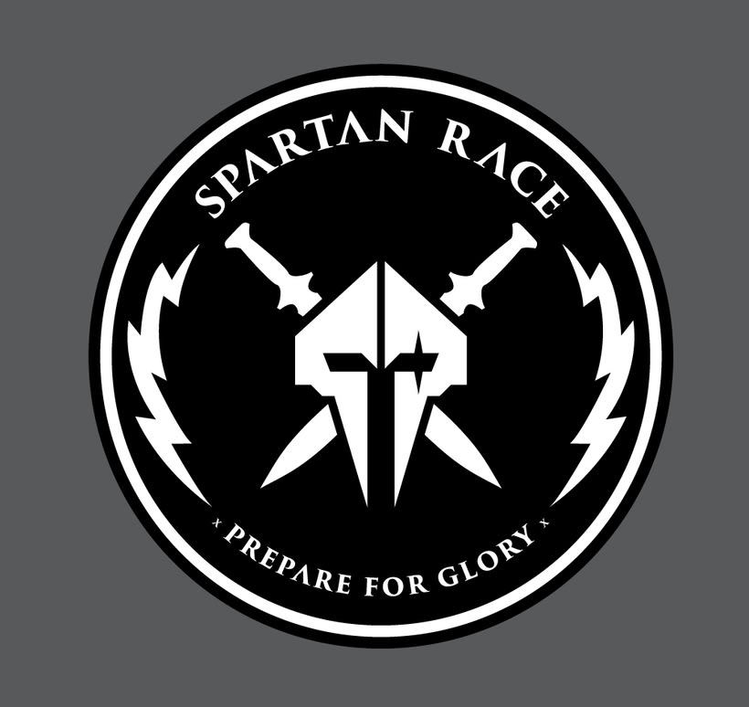 spartan race logo badge design challenge domestika