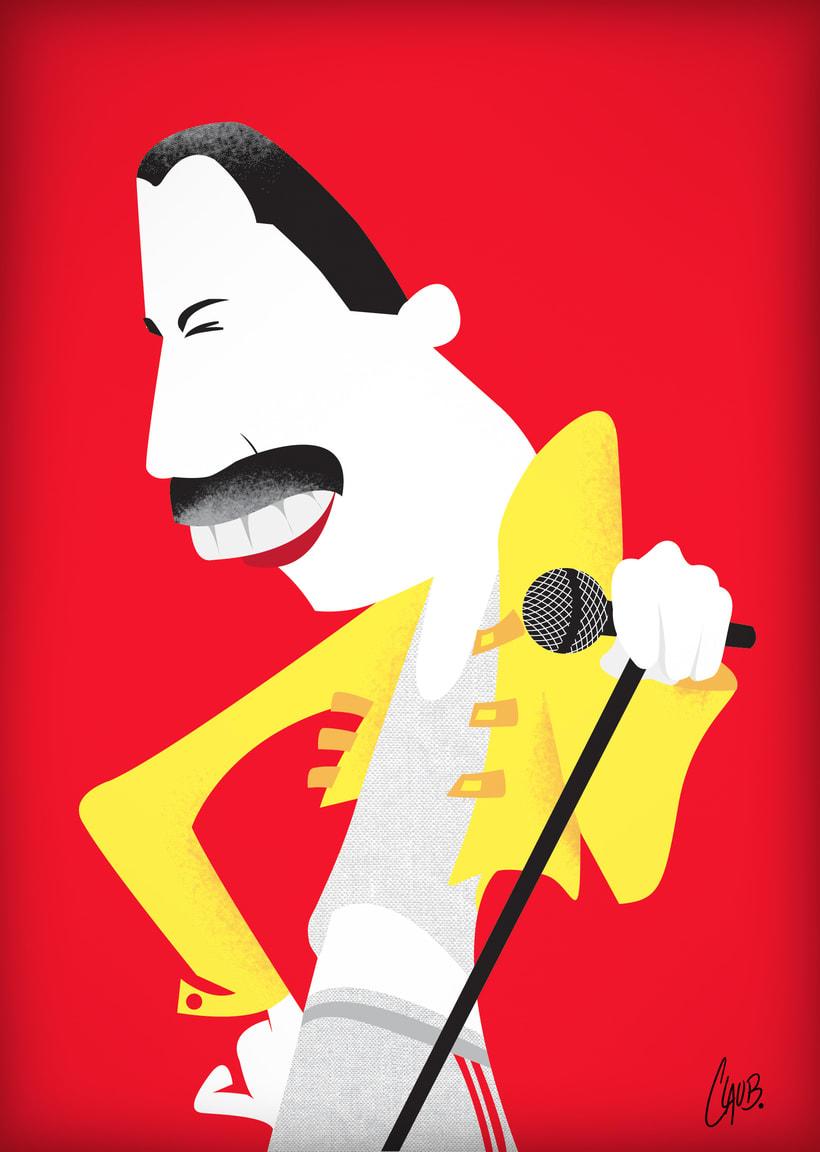Ilustración de personajes para prensa: Freddie 0