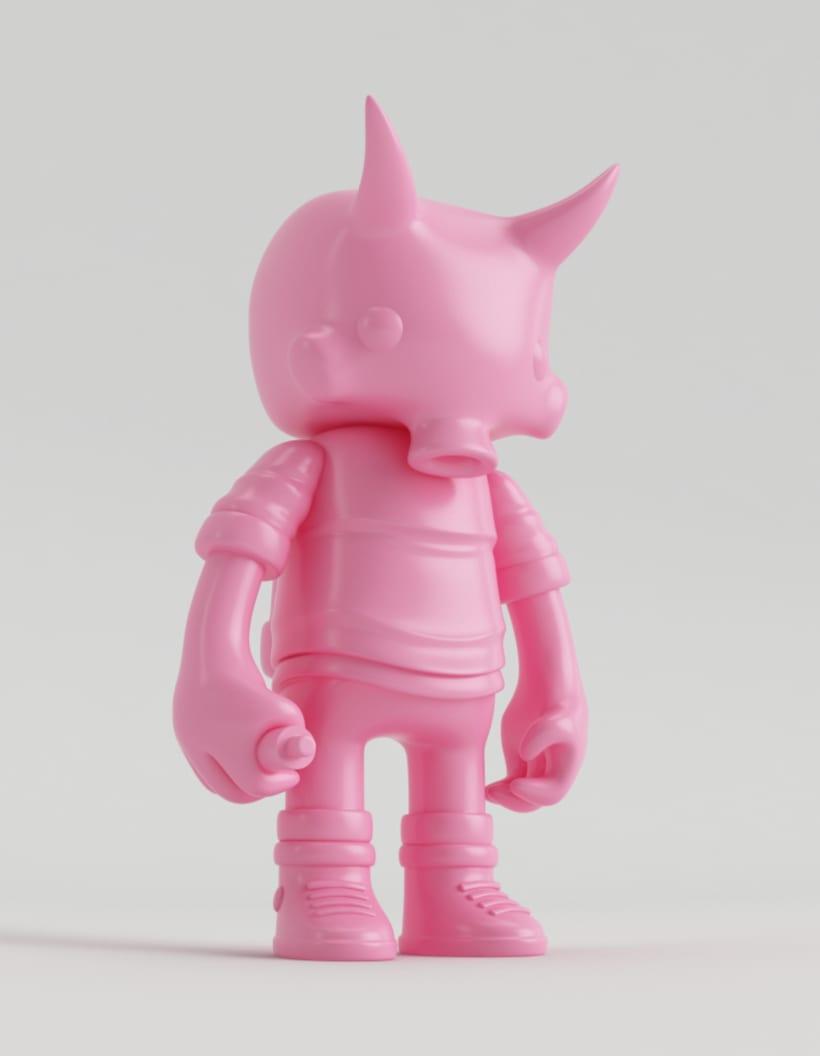 Mi Proyecto del curso: Diseño de personajes en Cinema 4D: del boceto a la impresión 3D. 12