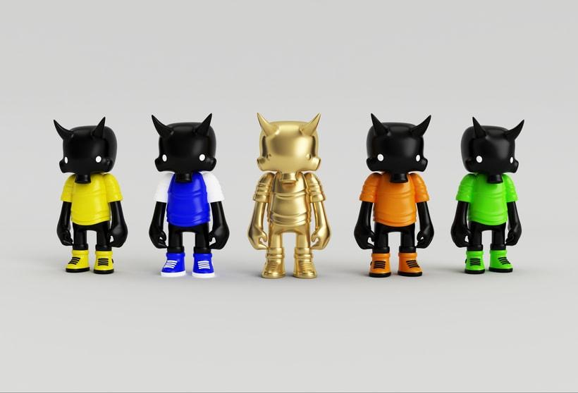 Mi Proyecto del curso: Diseño de personajes en Cinema 4D: del boceto a la impresión 3D. 15