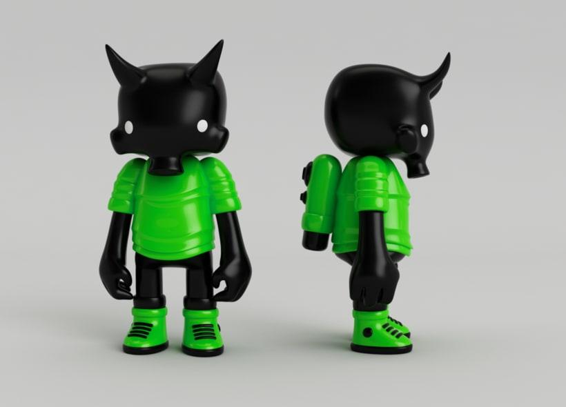 Mi Proyecto del curso: Diseño de personajes en Cinema 4D: del boceto a la impresión 3D. 13