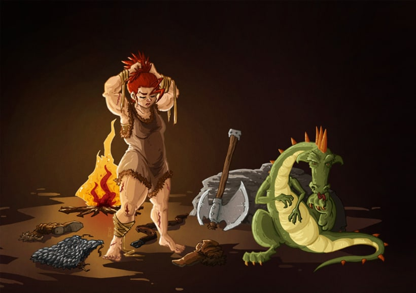 Barbie & Lizz (The barbarian and the lizard) 2