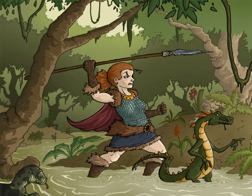 Barbie & Lizz (The barbarian and the lizard) 5