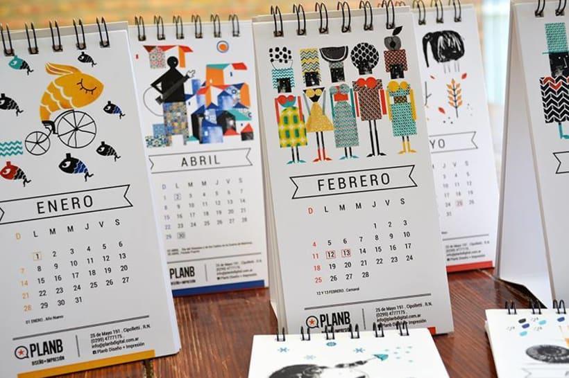 Dise o de calendarios 2018 con mis ilustraciones domestika - Disenos de calendarios ...