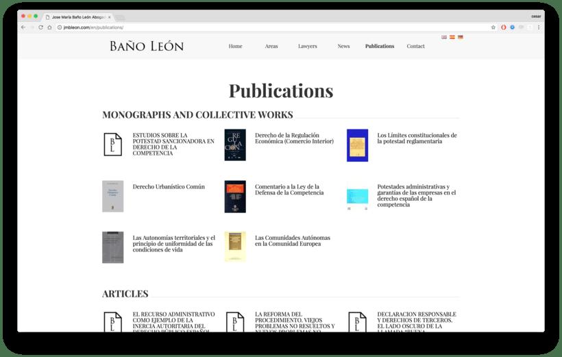 Web para abogados - Despacho de abogados online Baños Leon 1