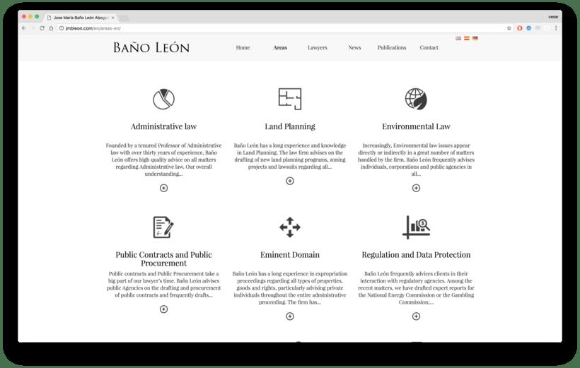 Web para abogados - Despacho de abogados online Baños Leon 2