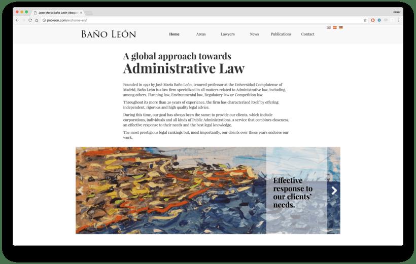 Web para abogados - Despacho de abogados online Baños Leon 0