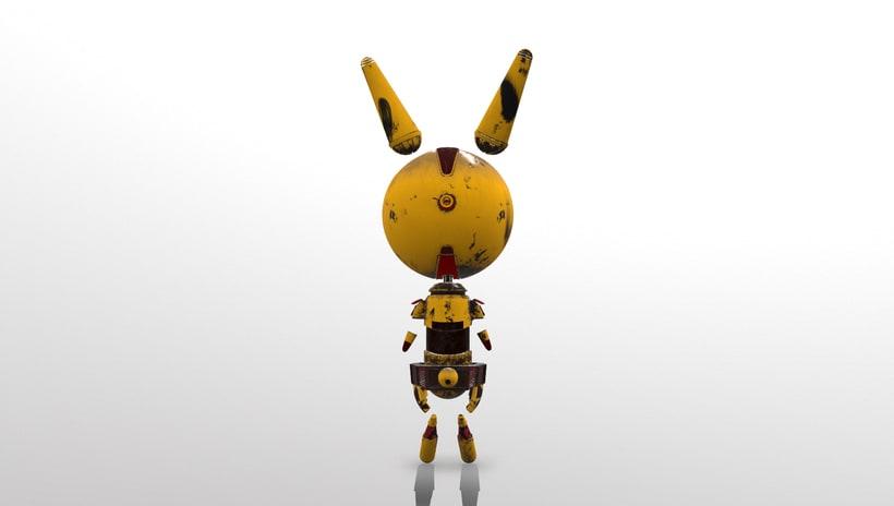D- Rabbit (3d model) 2