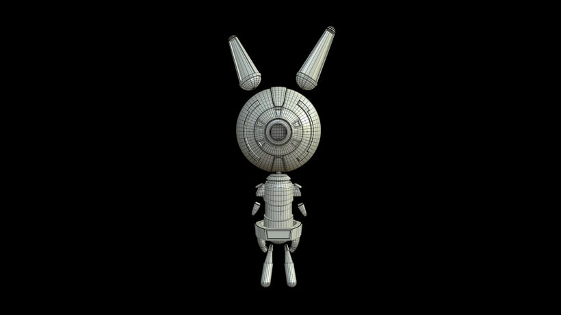 D- Rabbit (3d model) 6