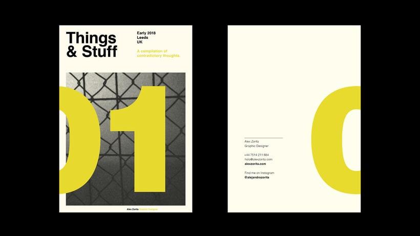 Things & Stuff: Una pequeña zine que servirá de carta de presentación como diseñador. 0
