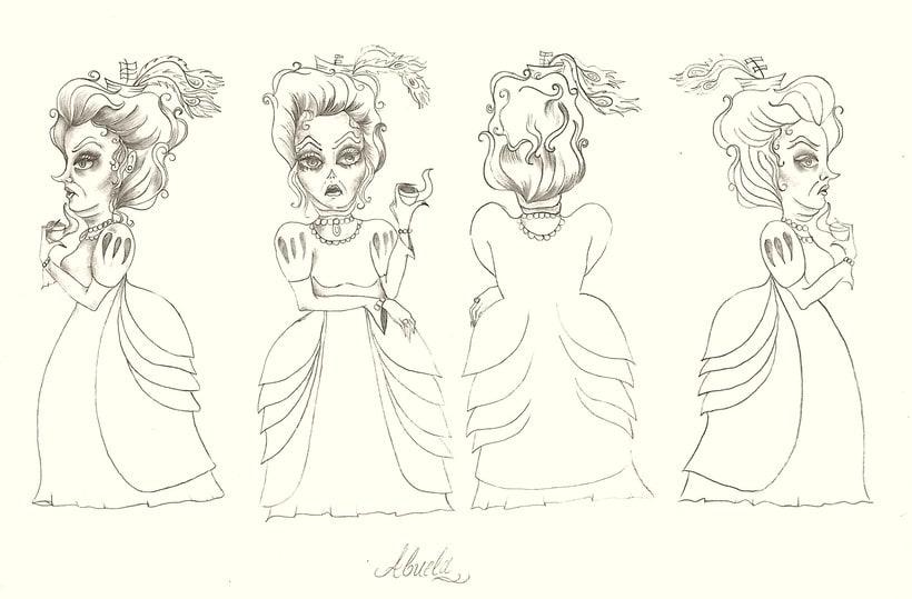 Diseño de Personajes Caperucita Roja 2