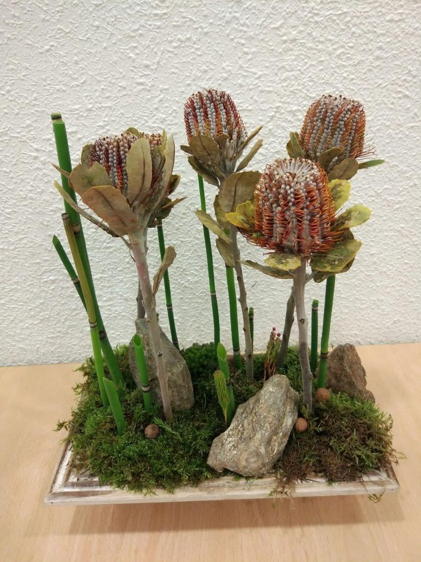 Centro Formal Paralelo monocultivo. Arte Floral 1