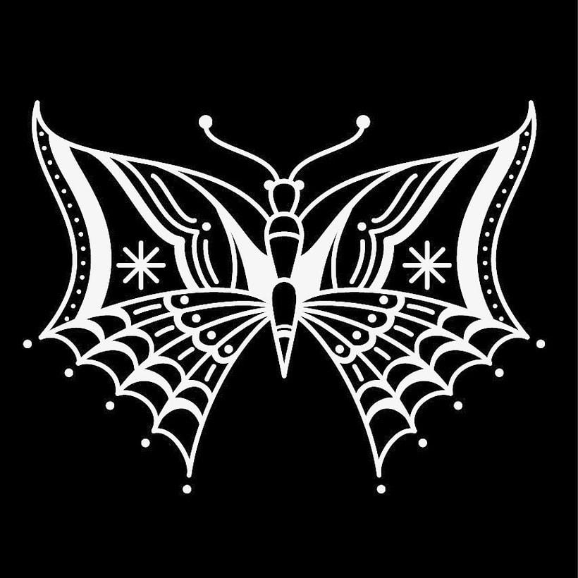 Mariposa vectorial -1