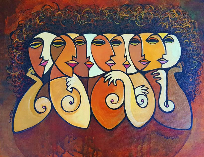 """La Mujer, su belleza y sus moods. el artista como admiración a la mujer, ha creado la colección de pinturas """"belleza y humor"""". 7"""