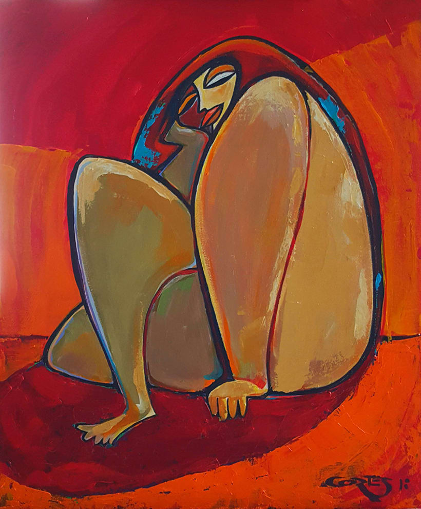 """La Mujer, su belleza y sus moods. el artista como admiración a la mujer, ha creado la colección de pinturas """"belleza y humor"""". 9"""